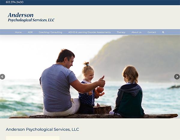 anderson psychology responsive wordpess website design