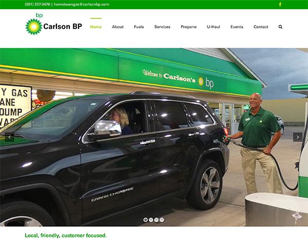 carlson bp wordpress web design