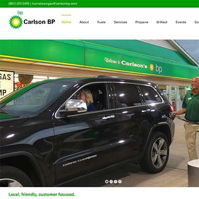 carlson bp wordpress web design