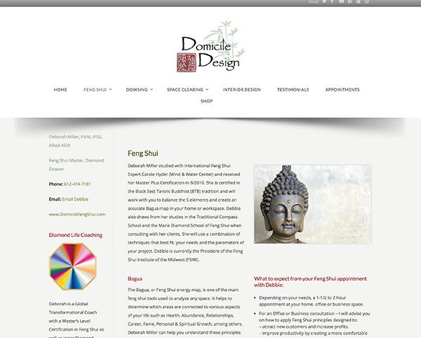 domicile design wordpress web design