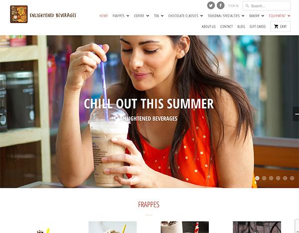 enlightened beverages responsive keer keer creative website design