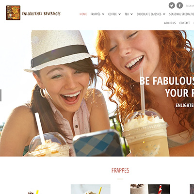 portfolio enlightened beverages keer keer creative website design
