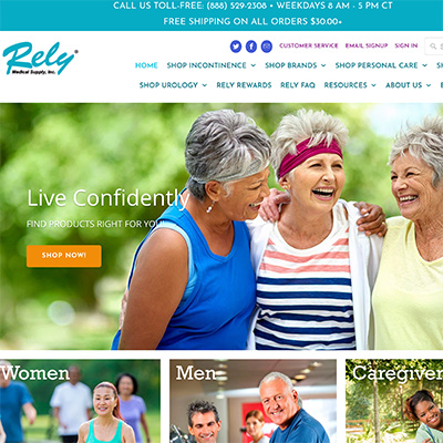 portfolio rely medical shopify ecommerce