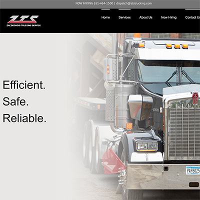 portfolio zts trucking keer keer creative wordpress website design
